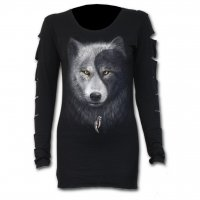 Wolf Chi slashed sleeve