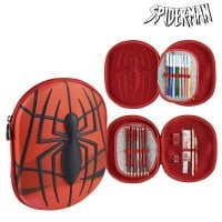 Triple Pencil Case Spiderman 8409 Red