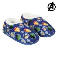 Metal Box with Blanket and Slippers The Avengers 73666 (3 pcs) Blue