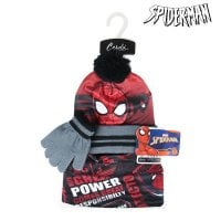 Hat, Gloves and Neck Warmer Spiderman 74328 Black (3 Pcs)