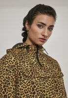 Leopard-patterned jacket lady neck