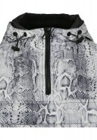 Snake-patterned jacket lady neck