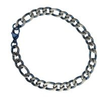 Bracelet Figaro stainless steel partially blue