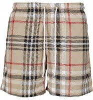 Swim shorts with British tartan pattern 1