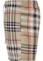 Swim shorts with British tartan pattern 2