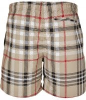Swim shorts with British tartan pattern 3