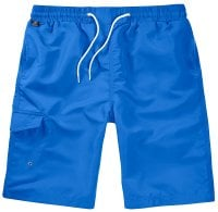 Blue Swimshorts Single Colored Front