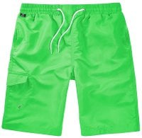 Lime Swimshorts Single Colored Front