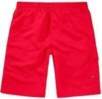 Red Swimshorts Single Colored Back