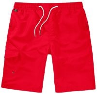Red Swimshorts Single Colored Front