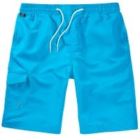 Turquoise Swimshorts Single Colored Front