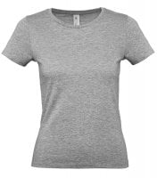 Basic T-shirt light gray ladies E150