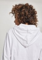 Ladies Heavy Jersey Batwing Hoody white hood