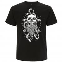 Beard and anchor black T-shirt