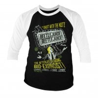 Beetlejuice - The afterlife's leading bio-exorcist baseball 3/4 tee