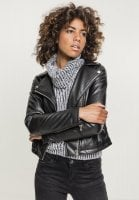 Ladies Faux Leather Biker Jacket rock