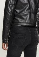 Ladies Faux Leather Biker Jacket sleeve