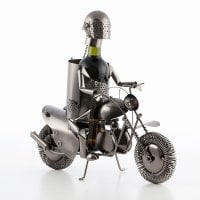 Biker Metallic Wine Rack 1