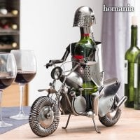 Biker Metallic Wine Rack 2