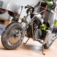 Biker Metallic Wine Rack 3