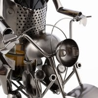 Biker Metallic Wine Rack 5