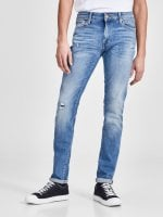 Blue jeans with worn skinny fit 1