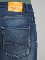 Blue washed jeans slim 5