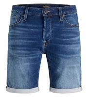 Blue washed jeans shorts