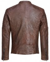 Brown leather jacket mens 2