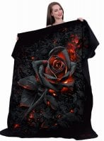 Burnt Rose fleece blanket