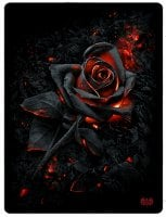 Burnt Rose fleece blanket hot rose