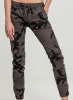 Ladies Camo Jogging Pants dark camo