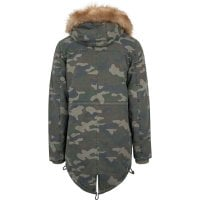 Camo parka washed look 2