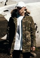 Camo parka washed look 1
