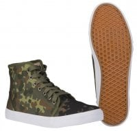 Canvas shoes camo flecktarn