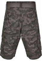 Cargo shorts with belt camouflage 6