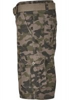 Cargo shorts with belt camouflage 2