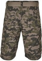 Cargo shorts with belt camouflage 3