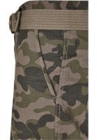 Cargo shorts with belt camouflage 7