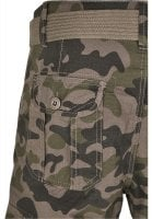 Cargo shorts with belt camouflage 8