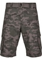 Cargo shorts with belt camouflage 4