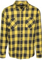 Flannel shirt black/yellow 110