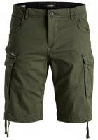 Comfort fit cargo shorts mens