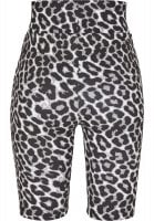 Bicycle trousers with high waist and leopard pattern back