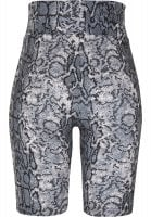 Bicycle pants with high waist and snake pattern back