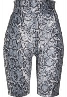 Bicycle pants with high waist and snake pattern front