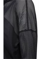 Women's Hoody with mesh details black