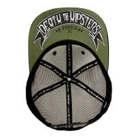 Death to hipsters snapback cap 2