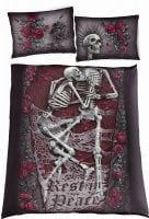 Double duvet cover with skull print