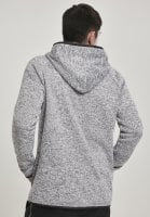 Fleece sweater with hood sir back